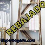 Escaleras de madera de pintor antigua