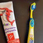 Pastas de dientes sin sabor